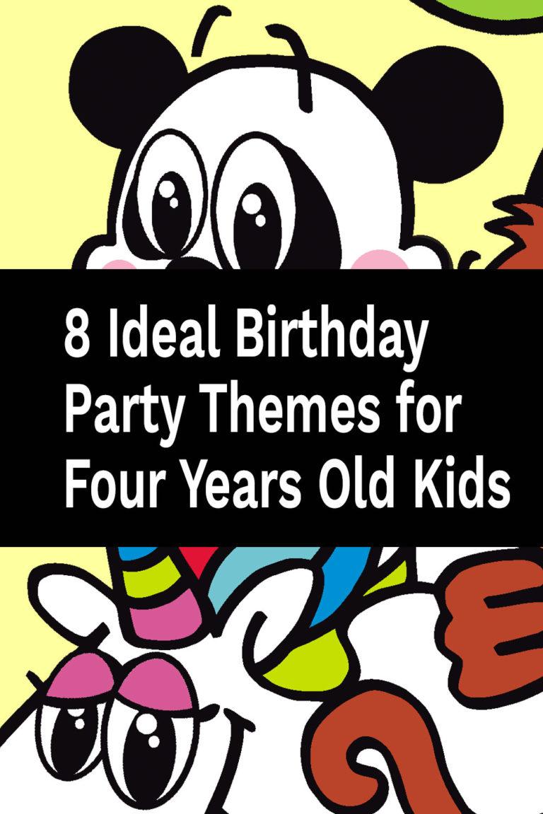 8 temi ideali per la festa di compleanno per bambini di quattro anni