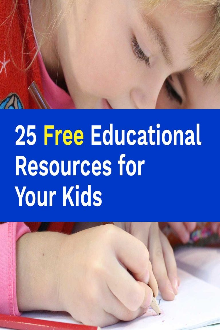 25 Free Educational Resources for Your Kids