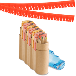 10 Educational Piñata Fillers - Colored Pencil in Cylinder