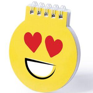 Yellow Notebooks with Emoji Designs