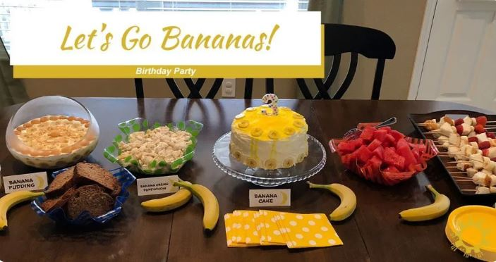 Banana Birthday Party - Original Party Ideas for Kids