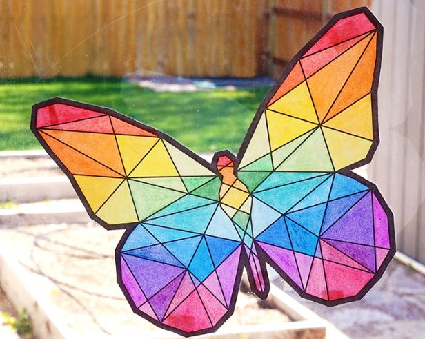 Butterfly Suncatcher - Fun Activities with Kids