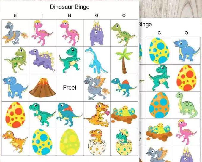 Dinosaur Bingo - Fun Activities with Kids
