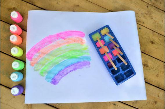 Frozen Paint Art - Fun Activities with Kids