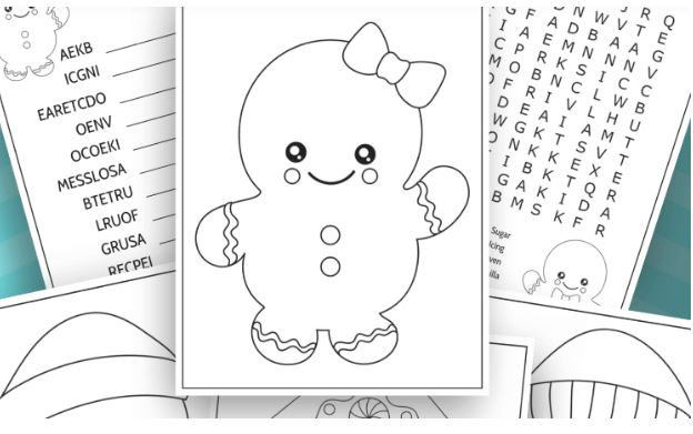 Gingerbread Man Activity Sheet - Fun Activities with Kids