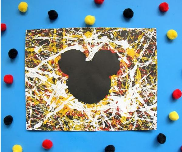 Mickey Mouse Marble Painting - Fun Activities with Kids
