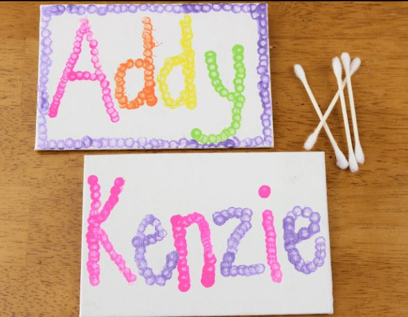 Name Art with Pointillism - Fun Activities with Kids
