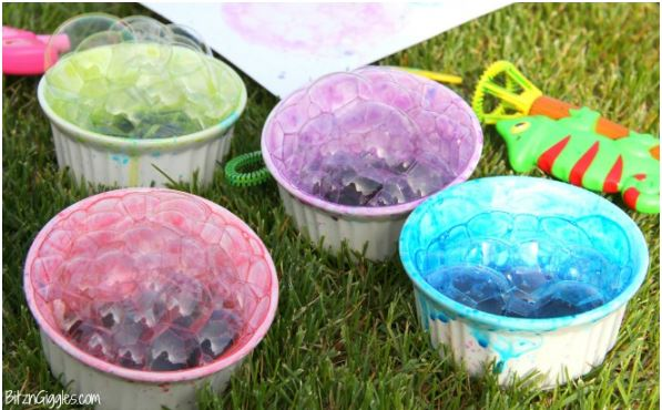 Painting with Bubbles - Fun Activities with Kids