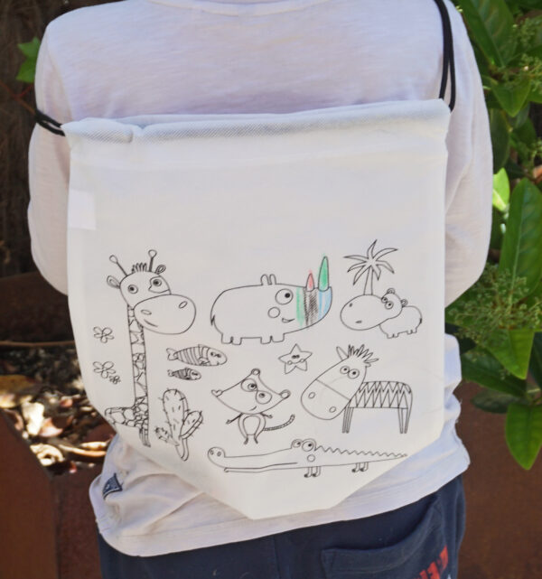 Drawstring Bags to Colour in