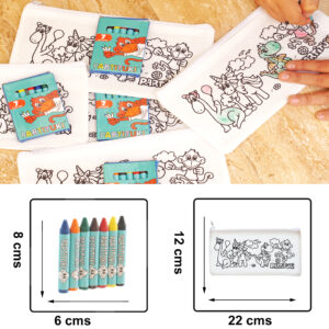 10 Coloring Cases with 7 Partituki Colored Waxes. Gifts for Children's Birthday Parties